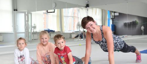 Новый класс фитнес мама и малыш